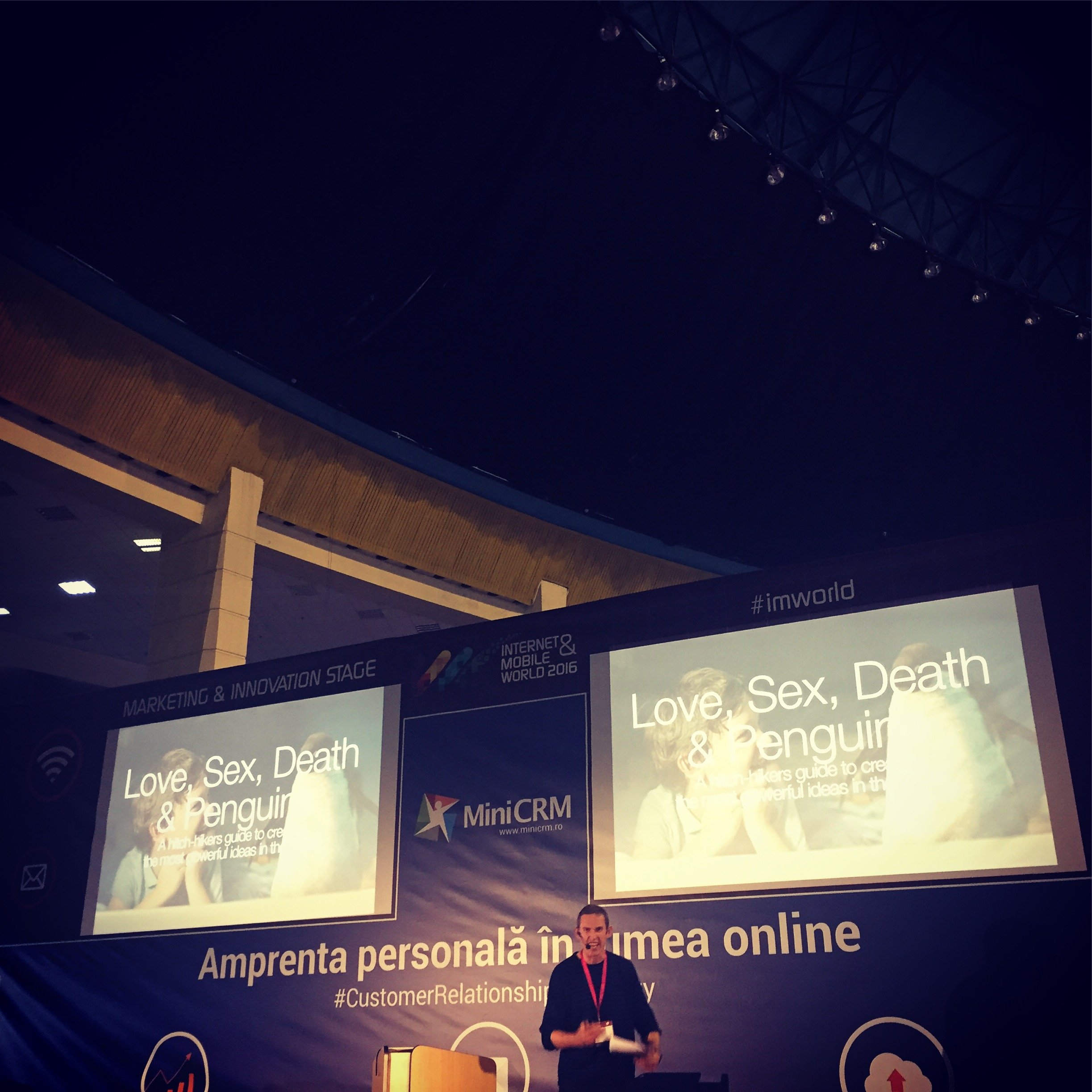 Internet & Mobile World 2016 – Dom Boyd cu Love Sex Death and Penguins